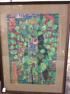 "Friedensreich Hundertwasser. ""Singing Bird on a Tree in the City""  Circa 1951"