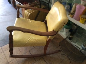 Great wood on this solid chair. It's retro, and it's cool.