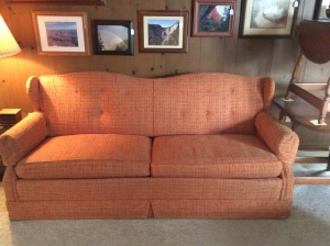 Reupholster this hide-a-bed sofa and you've got a great sleeping place for guests!