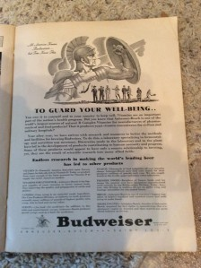 Budweiser extolling the virtues of beer and better vitamin consumption. Who'd a thought, right?