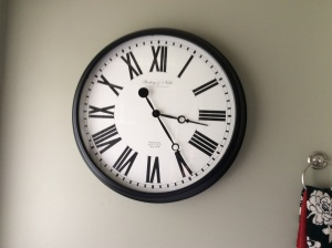 The picture doesn't do this clock justice. It's big.