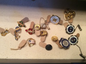 Sorority and other various circa 1950's lapel pins.