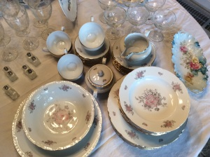 Vintage china from the sovereign state of Czechoslovakia. Lovely and unique.