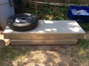 Great tool box for your truck. The tire optional.