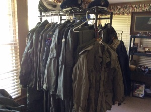 Lots of flight suits, many are vintage