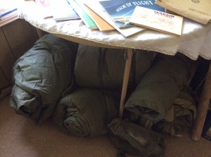 Military sleeping bags. These are the real deal and they are WARM.