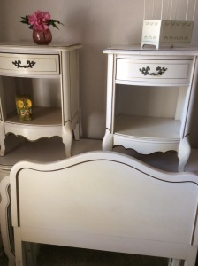 Two twin head and foot boards, large dresser, mirror and two night stands. Gorgeous!