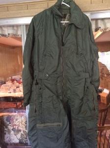 Cold weather flight suit. Arctic cold. No kidding.