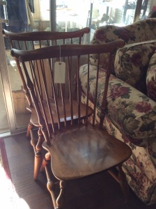 Four Windsor chairs.