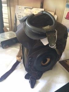 WWII leather flight helmet.